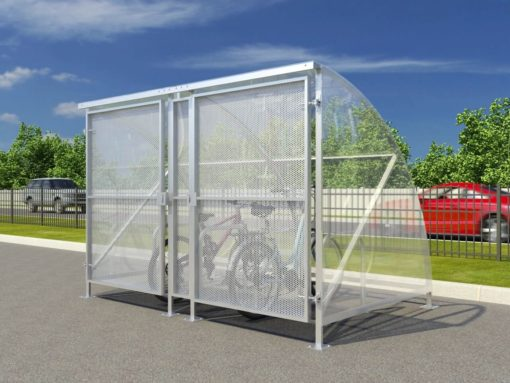 Gated 10 Cycle Shelter